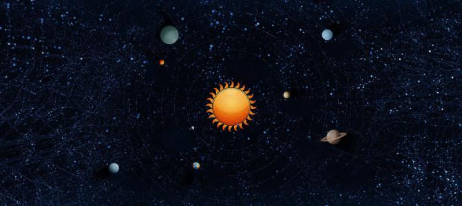 太阳星系宇宙炫酷背景banner高清背景图片素材下载