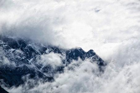 大气山峰云海高清背景图片素材下载