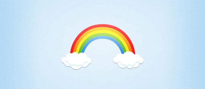 卡通彩虹背景