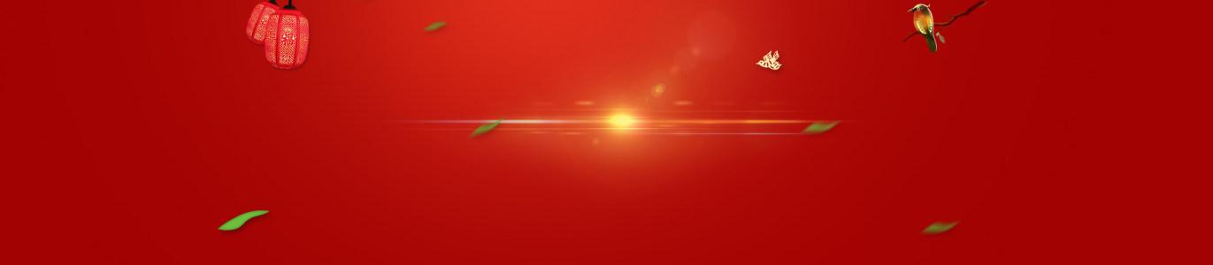 喜庆中国风新年灯笼光束背景banner