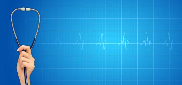蓝色医疗听诊器背景