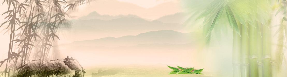 唯美淡雅中国风banner设计展板高清背景图片素材下载