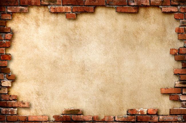 砖墙纹理背景背景高清大图-砖墙背景底纹/肌理