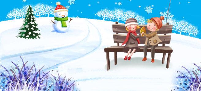 雪地背景高清背景图片素材下载