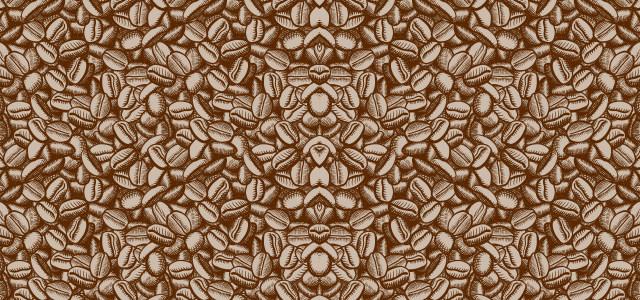 综色咖啡豆手绘背景