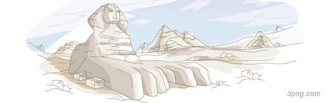 手绘埃及banner创意设计背景高清大图-埃及背景Banner海报