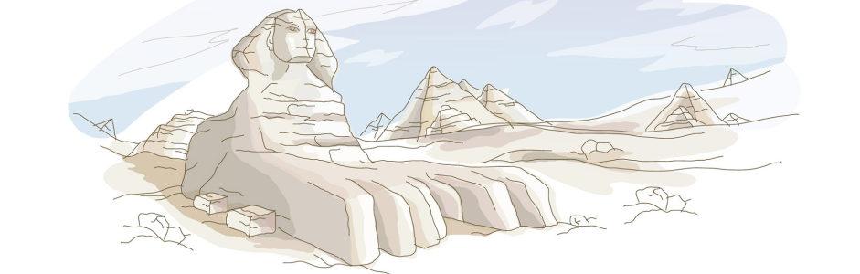 手绘埃及banner创意设计