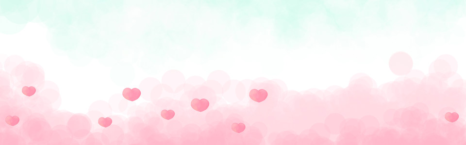 唯美手绘小情绪爱心海报背景