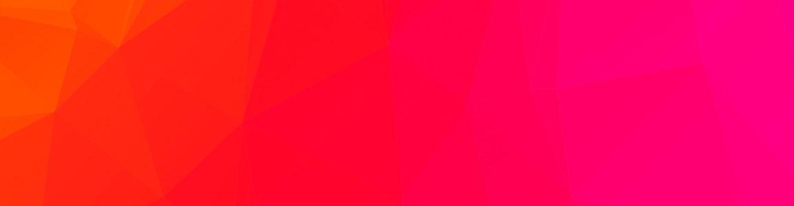 红色几何形banner背景