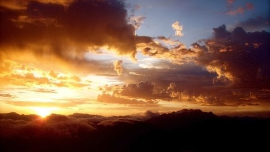 大气晚霞云层