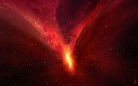 红色火焰背景