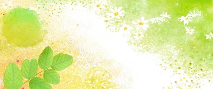 清新绿色手绘海报背景