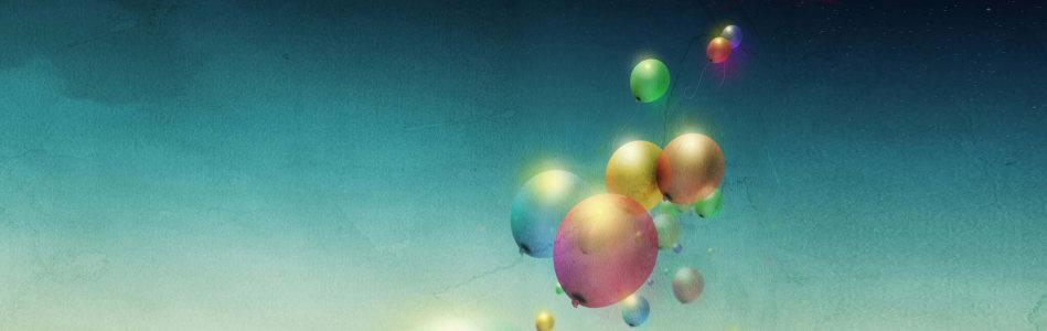 气球简约创意banner背景