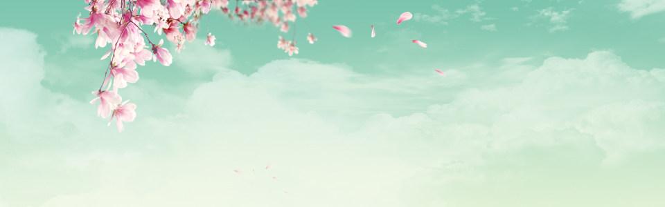 桃花盛开淘宝背景图高清背景图片素材下载