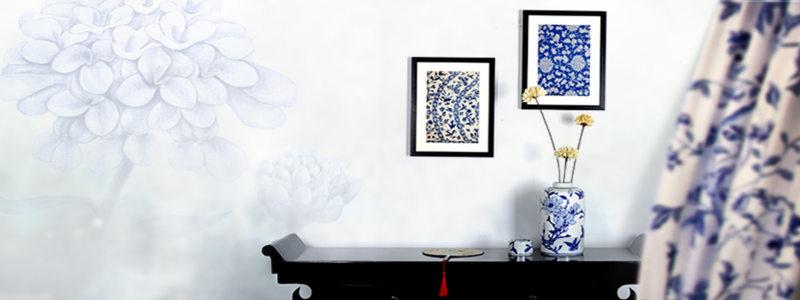 中式青花系列中国风海报