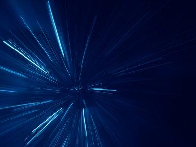 蓝色光迹深蓝色背景