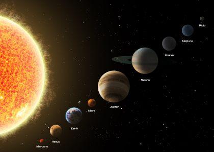 太阳系星球高清背景图片素材下载