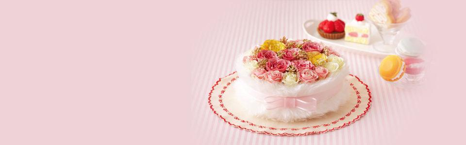 创意玫瑰花束浪漫海报背景