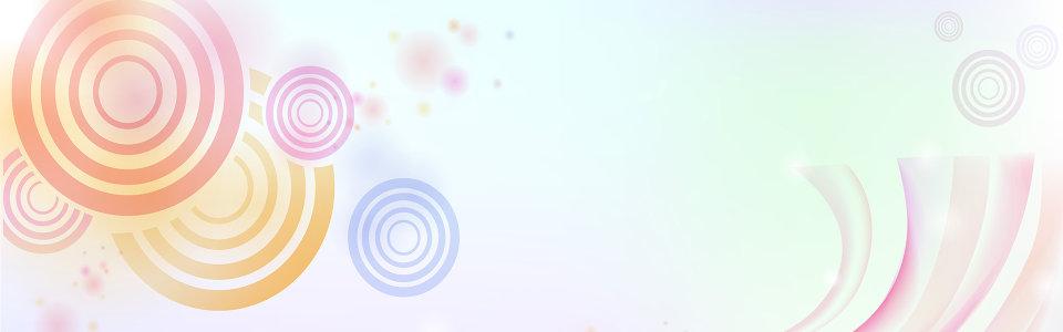 圆圈线条梦幻背景